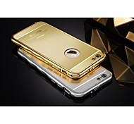 Hollow Back Luxury Streamline Metal Frame Acrylic Bench Drawing Backplane Metal Hard Case for iPhone 6