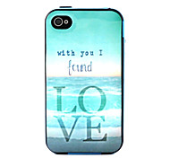 COCO FUN® Find Love Pattern Soft TPU Back Case Cover with Screen Protector and Stylus for iPhone 4/4S