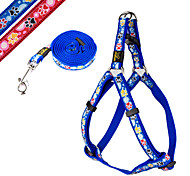 Cute Dog Paw Pattern Pet Harness & Leash Set for Dogs and Cats (Assorted colors and Sizes)
