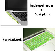 Top Selling TPU Keyboard Cover and Dust plugs for Macbook Air 13.3 inch (Assorted Colors)