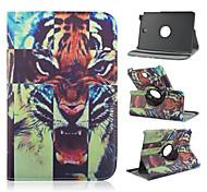 8 inch 360 graden rotatie tijger patroon stand case voor Samsung Galaxy Tab een 8,0 sm-T350 / T351