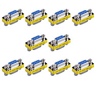 9pin VGA Female to VGA Female Mini Gender Changer Adapters (10 PCS)