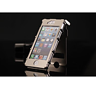 For iPhone 5 Case Shockproof / with Stand / with Windows Case Full Body Case Armor Hard Aluminium iPhone SE/5s/5