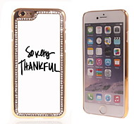 So Very Thankful Design Luxury Hybrid Bling Glitter Sparkle With Crystal Rhinestone Case for iPhone 6