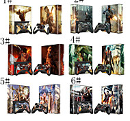 Decal Skin Sticker Decal for Microsoft Xbox 360E Console+Controllers
