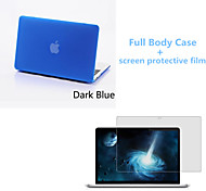 Top Quality Full Body Matte Case and Screen Protetive Film for Macbook Retina 13.3 inch (Assorted Colors)