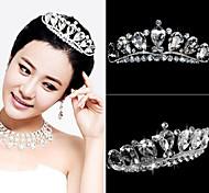 Crystal Crown Tiara Hair Flower Bride Hair Wedding Headdress