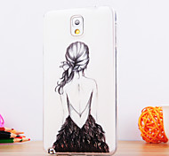 For Samsung Galaxy Note Pattern Case Back Cover Case Sexy Lady TPU Samsung Note 3