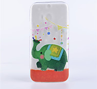 Elephant Pattern Embossed Painted Thin Transparent TPU Material Mobile Shell for HTC M8