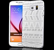 transparent Relief Handwerk Hohl graph Druck pc Peeling Material Telefonkasten für Samsung-Galaxie-S6