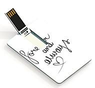 Siempre y siempre 64GB diseñar la tarjeta USB Flash Drive patrón