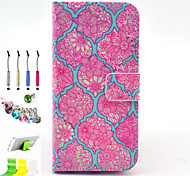 Printing Pattern PU All Inclusive With Slot Case and Stylus Pen Dust Plug Bracket Assembly for iPhone 6