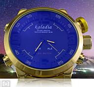 Men's Sports Watch Mutlifunctional Analog LED Digital Wrist Watch Waterproof Full Steel Golden Watch (Assorted Colors)