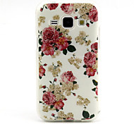 Rose Pattern TPU Soft Case for Samsung Galaxy J1