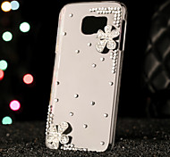 For Samsung Galaxy Case Rhinestone Case Back Cover Case 3D Cartoon PC Samsung S6