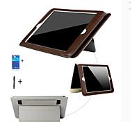 caja de lujo retro de cuero del ipad mini-pu de ultra fino de la cubierta elegante magnética con la pantalla soporte + protector + stylus