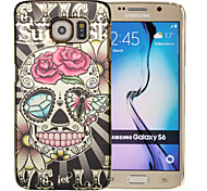 Magic Spider®Skull Gold Plating Colorful Painting Back Case with Screen Protector for Samsung Galaxy S6