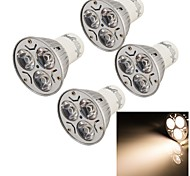 4PCS YouOKLight® GU10 3W CRI=70 240LM 3000K Warm White 3-LED Spot Lights(85~265V)