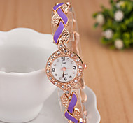 Women's Watches Ladies Fashion Colorful Steel Watch Accessories Exquisite Diamond Bracelet Watch Leaves