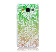 Beautiful Flower Pattern TPU Soft Case for Samsung Galaxy A3