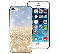 goldenen Sand Design Aluminium-Hülle für das iPhone 5c