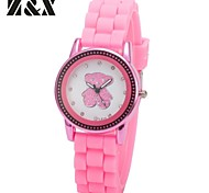Women's Fashion Diamond Candy Color Bear Quartz Analog Silicone Wrist Watch(Assorted Colors)