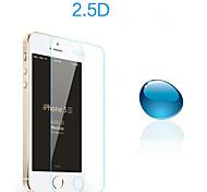 endurecido protector de pantalla de cristal ultrafino 0.25mm de lujo para el iphone 5 / 5s chapado espejo hd guardan transparente
