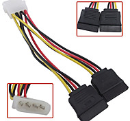 4 Pin IDE Molex to 2 Serial ATA SATA Y Splitter Hard Drive Power Supply Cable