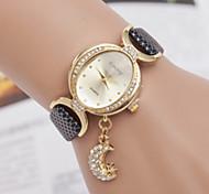 relógios das mulheres das senhoras da moda coreano senhoras pingente de estrela da lua de marcação oval relógio de quartzo