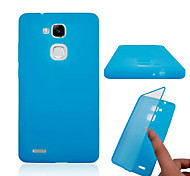 Transparent Flip Free Turn Touch PC and TPU Combo Full Package Phone Case for Huawei Mate 7 (Assorted Colors)