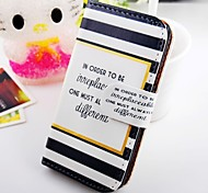 Article Black and White and Cool Word Pu Leather Case for Samsung Galaxy S2  I9100