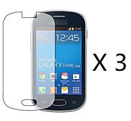 (3 peças) de alta definição de tela flim protetor para Samsung Galaxy Lite fama s6790 / i629