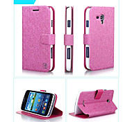 Smooth Silk Pattern with Card Bag PU Full Body Case for Samsung Galaxy Grand I9128(Assorted Color)