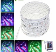 5M 25W 300x3528SMD RGB Waterproof Flexible LED Light Strips + 24-Key IR Controller(DC12V)