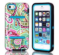 h Modelle imd Cashew-Blumen-Muster-TPU und PC-Material triple Telefonoberteil für iphone 5c (verschiedene Farben)