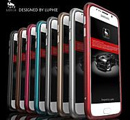 luphie círculo arco de metal de alumínio pára-choques para Samsung Galaxy S6