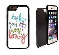 Make Life Worth Living Pattern 2 in 1 Hybrid Armor Full-Body Dual Layer Shock-Protector Slim Case for iPhone 6