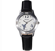 Women Assorted Colors High Quality Alloy Dial Genuine Leather Band Analog Japan Quartz Movement Wristwatches