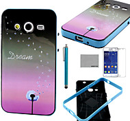 COCO FUN® Dandelion Dream Soft TPU Back Case with Screen Protector and Stylus for Samsung Galaxy Core 2 G355H