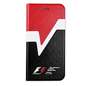 Formula 1 Series Smart Stay Function Leather case for iPhone 6