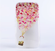 modello palloncino coperture del telefono rilievo dipinto materiale TPU trasparente per Alcatel One Touch pop c9