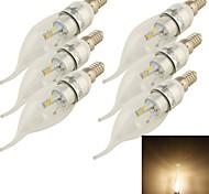 6PCS YouOKLight®  E14 3W CRI=80 240lm 3000K 6-SMD5730 Warm White Light LED Candle Bulbs(85~265V)