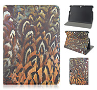 10.1 Inch Peacock Feather Pattern PU Leather Stand Case for Asus MeMO Pad 10-ME103K