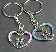 Alloy Love Hand in Hand Lovers Key Chain