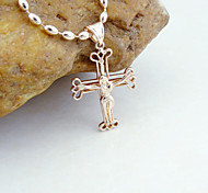 18K Gold Plated CC Russia Color Jesus Christ Cross Pendant