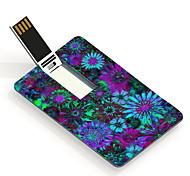 16gb fleur colorée carte de modèle de conception lecteur flash USB