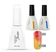 Azure 3 Pcs/Lot Chameleon Temperature UV Gel Soak-off Nail Polish Set(#24+BASE+TOP)