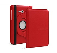 Rotating Litchi Grain Leather   360 Rotating Leather Case For Samsung Galaxy Tab 4 7.0 T230 (Assorted Colors)