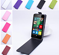 For Nokia Case Flip Case Full Body Case Solid Color Hard PU Leather Nokia Nokia Lumia 640