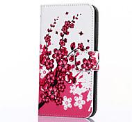 Corpo Completo carteira / Entrada de Cartão / com suporte Árvore Couro Ecológico Duro Case Capa Para Huawei Huawei P8 / Other